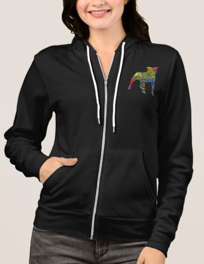 "Womens Pitbull Sweatshirt ""Peace Love & Pit Bulls"""