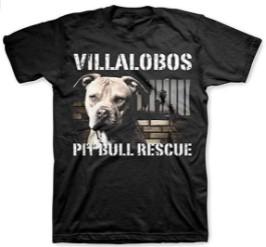 Janllow Villalobos Rescue Center Pit Bull Rescue Black Tee Shirts for Mens
