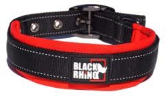 Black Rhino - The Comfort Collar Ultra Soft Neoprene Padded Dog Collar for All Breeds – Heavy Duty Adjustable Reflective Weatherproof