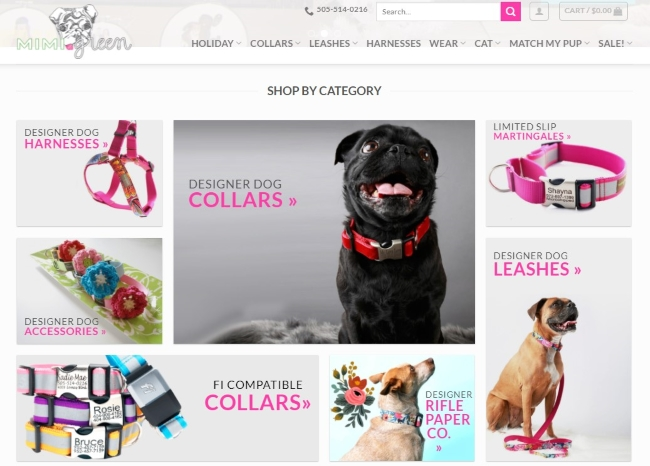 Custom Collars and Harnesses at Mimi Green