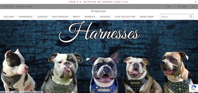 Custom Pitbull Collars and Harnesses
