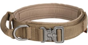 . Excellent Elite Spanker Tactical Dog Collar Nylon Adjustable K9 Collar Military Dog Collar Heavy Duty Metal Buckle with Handle