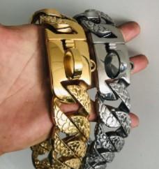 Gold Dog Chain Collar - Strong Metal Dog Chain Collars