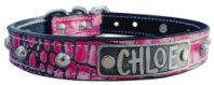 Nu2 - 1 Name Plate Dome Studded Leather Collar