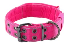 """Yunleparks Reflective Dog Collar Heavy Duty Dog Collar with Control Handle and Metal Buckle for Dog Training, 1.5"""" Width"""